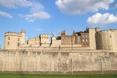 Torre di Londra - attrazione turistica britannica famosa a Londra, Regno Unito Fotografie Stock