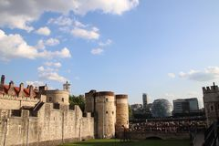 Torre di Londra e del comune di Londra Immagini Stock Libere da Diritti