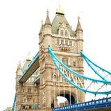torre di Londra nel vecchio ponte dell'Inghilterra e nel cielo nuvoloso Immagine Stock Libera da Diritti