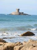 Torre di Martello della baia della st Ouens, Jersey Immagine Stock Libera da Diritti