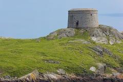 Torre di Martello. Isola di Dalkey. L'Irlanda Fotografie Stock Libere da Diritti