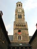 Torre di Medival a Bruges a Bruges fotografia stock