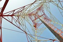 Torre di microonda Fotografia Stock