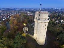 Torre di Montlhery, l'Essonne fotografie stock libere da diritti