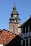 Torre di Nikolai di Eschwege in Germania fotografie stock libere da diritti