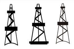 Torre di olio Fotografie Stock Libere da Diritti