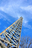 Torre di olio di legno Fotografia Stock Libera da Diritti
