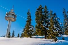 Torre di ommunication del ¡ di Ð in alpi austriache Fotografia Stock Libera da Diritti