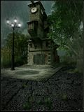 Torre di orologio Fotografie Stock