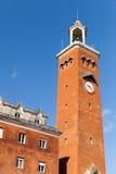 Torre di orologio alta di comune di Gaeta, Italia Fotografie Stock Libere da Diritti