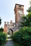 Torre di orologio di Bazzano Italia fotografia stock libera da diritti