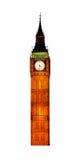 Torre di orologio britannica famosa Big Ben Fotografia Stock