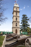 Torre di orologio a Bursa, Turchia fotografia stock