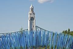 Torre di orologio con le poste Immagini Stock