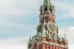 Torre di orologio del mattone Immagine Stock Libera da Diritti