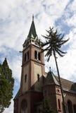 Torre di orologio della chiesa Fotografie Stock Libere da Diritti
