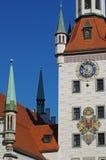 Torre di orologio della città Immagini Stock Libere da Diritti