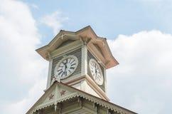Torre di orologio della città di Sapporo Fotografia Stock Libera da Diritti