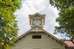 Torre di orologio della città di Sapporo di estate Fotografia Stock Libera da Diritti