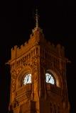 Torre di orologio della costruzione della testata del molo Immagine Stock Libera da Diritti