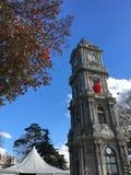Torre di orologio di Dolmabahce Fotografia Stock