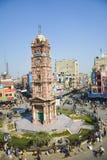 Torre di orologio di Faisalabad Immagini Stock Libere da Diritti