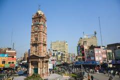 Torre di orologio di Faisalabad Fotografie Stock