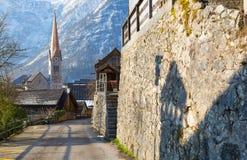 Torre di orologio di Hallstatt Fotografia Stock Libera da Diritti