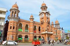 Torre di orologio di Multan Fotografie Stock