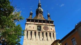 Torre di orologio di Sighisoara Fotografia Stock
