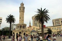 Torre di orologio di Smirne, Turchia Fotografia Stock Libera da Diritti