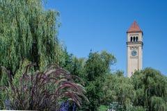Torre di orologio di Spokane Fotografia Stock