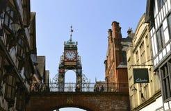 Torre di orologio di Eastgate a Chester fotografie stock