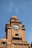 Torre di orologio edificio di Historic Karachi Municipal Corporation Pakistan Immagine Stock