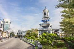 Torre di orologio di Muar, il punto di riferimento iconico di Muar Fotografie Stock Libere da Diritti