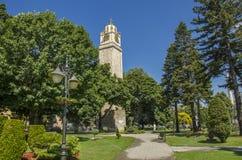 Torre di orologio nel centro di Bitola, Repubblica Macedone Immagini Stock Libere da Diritti