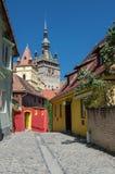 Torre di orologio, punto di riferimento della Transilvania, Sighisoara Immagini Stock
