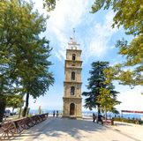 Torre di orologio storica a Bursa Tophane immagine stock libera da diritti