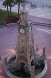Torre di orologio sulla Daytona Beach, striscia di Florida Fotografia Stock Libera da Diritti