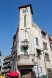 Torre di orologio swaminarayan del tempio di Kalupur Immagine Stock