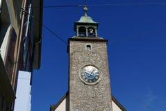 Torre di orologio a Vevey immagini stock