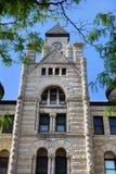 Torre di orologio a Wichita Fotografia Stock