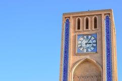 Torre di orologio in Yazd, Iran Fotografia Stock Libera da Diritti