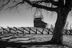 Torre di osservazione della montagna della marmotta Immagine Stock Libera da Diritti