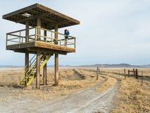 Torre di osservazione delle zone umide Fotografia Stock