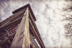 Torre di osservazione di legno Fotografia Stock