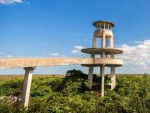 Torre di osservazione, parco nazionale dei terreni paludosi Immagine Stock Libera da Diritti