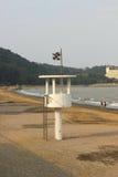 Torre di osservazione sulla spiaggia Fotografia Stock
