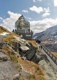 Torre di osservazione di visita della gente al Grossglockner in Austria Immagine Stock Libera da Diritti