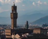 Torre di Palazzo Vecchio, Firenze Fotografia Stock
